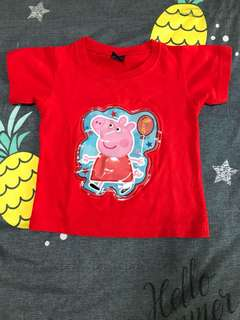 "NEW Peppa pig ""light up"" T-shirt  - 2Y"