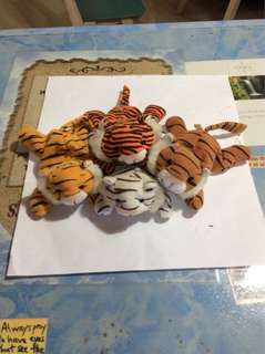 Vintage collection Esso tiger soft toys.