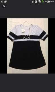 Plus size black and gray XXXL dress