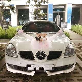 Mercs SLK 350 and BMW 525 Wedding Rental