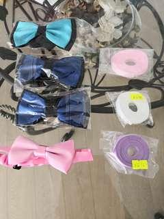 20蚊包bow tie 4個,絲帶