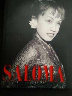 BUKU BIOGRAFI SALOMA  ( Hardcover Coffee Table Book) -  ( DiTandatangani ( Autographed ) oleh Penulis -Ahmad Fauzee Samad )