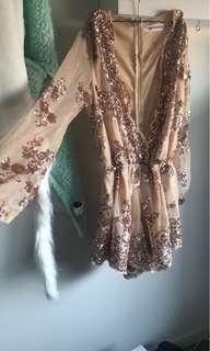 Ladies sequinned playsuit