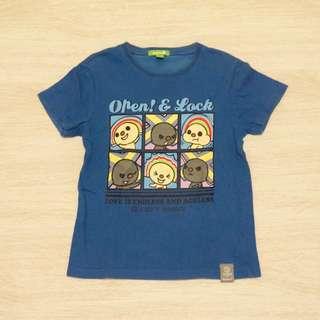 🚚 二手童裝/ Bossini 深藍色OPEN醬T恤
