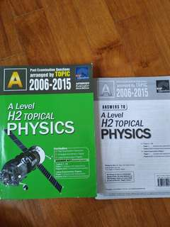 [CLEARING] H2 PHYSICS A LEVEL TYS
