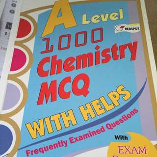 A Levels Chemistry MCQ