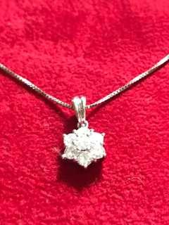 King Fook Jewellery Diamond Pendant with Chain