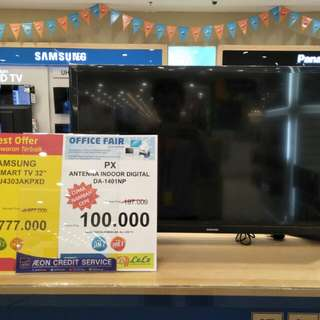 Samsung 32 inch smart tv bisa cicil mudah cepat hanya 3mnt gratis 1x cicil