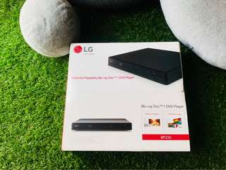 LG Powerful Playability Blu-ray Disc / DVD Player BP250