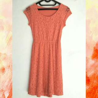 Coral Simple Mini Dress #horegajian