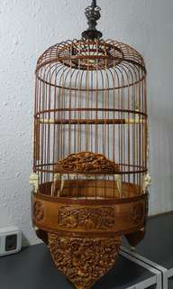 Sankok fine carving Handcrafted cage