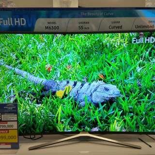 """UA55M6300 Samsung Curved 55"""" Smart TV Promo Gratis 1X cicilan"""