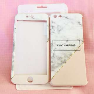 CHIC HAPPENS marble/pink double sided aesthetic iPhone 6/S PLUS phone case