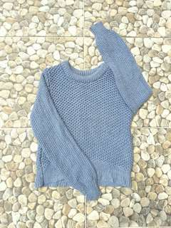 Momo Blue Cable Sweater