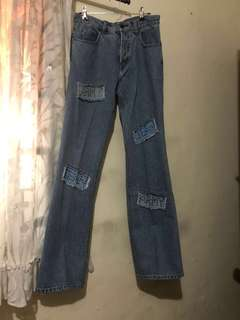 wide leg high waisted jeans