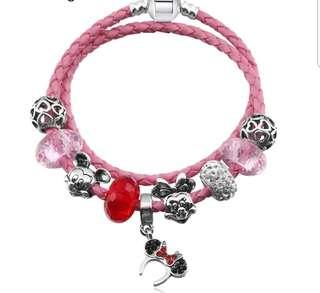 P2mart ✌✔Pre order stock ✔Pink Crystal Charm Bracelet