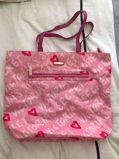 Victoria's Secret pink all day tote bag