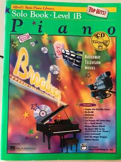 NEW Alfred piano solo Book Level 1B with CD