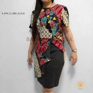 Batik Dress in Black