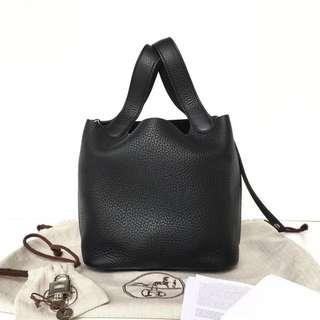 Authentic Hermes Picotin 18 Black