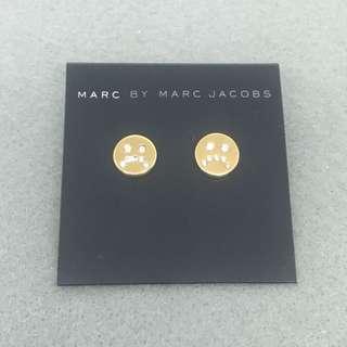 Marc Jacobs Sample Earrings 金色閃石笑哈哈喊包耳環