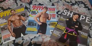 Gold's Gym Fitness Magazines + Eco Bag