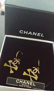 Chanel 耳環 黃色骨 全新 購自日本