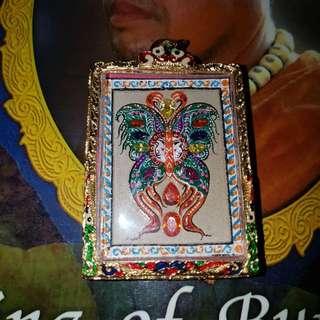 Kruba Krissana Butterfly Blk B BE 2560 Wat Arsom