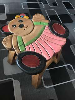 Wooden kiddie stool