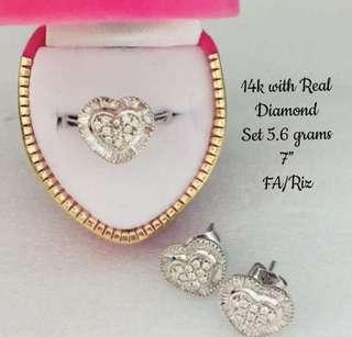 Real Diamond Set in 14k Gold
