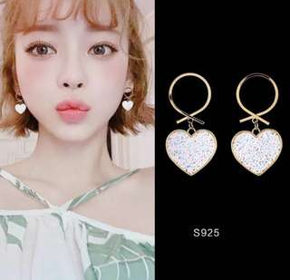 [PO] Korean Pastel Heart Shaped Earrings