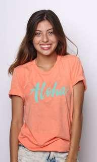 Aloha Summer Vintage Tee Shirt T Shirt (preloved)