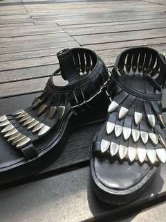 Metal tipped sandals