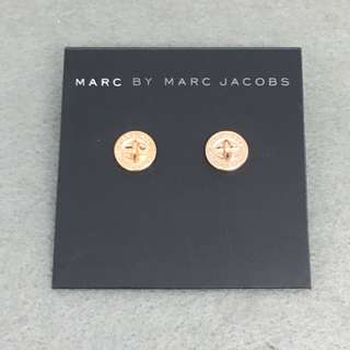 Marc Jacobs sample Earrings 玫瑰金色扣子耳環