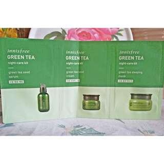 Innisfree Green Tea Night-Care Kit Sample Size