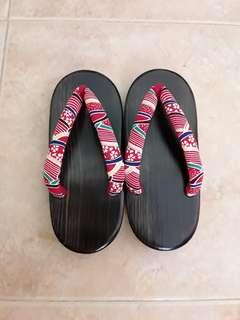 Japanese traditional geta wooden pinewood clog sandal shoes
