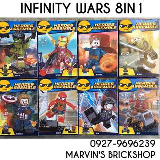 Avengers Infinity War 8in1 Minifigures Building Block Toy