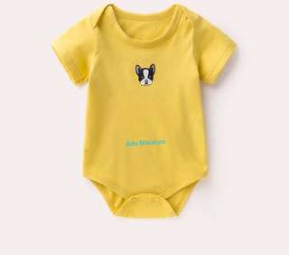 Baby Romper (Yellow Dog 🐶)