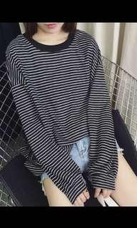 👚ulzzang casual long sleeve top👚