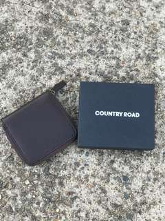 Country Road chocolate zip around wallet