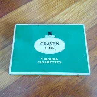 Green Craven Plain Virginia Cigarettes Tin Vintage