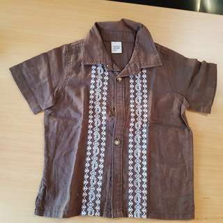 Brown baby polo