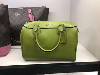 Green color coach bags