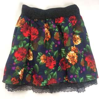 Party Floral Lacey Skort