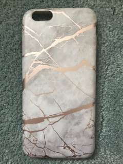 Iphone 6 rose gold marble case
