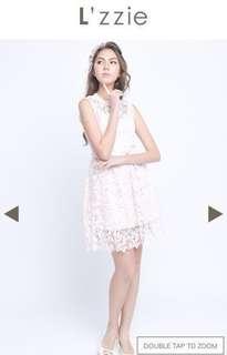 Karry Dress -Pink/white