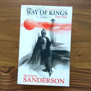 $4.9 stormlight way of kings book one part two stormlight archives brandon sanderson good condition