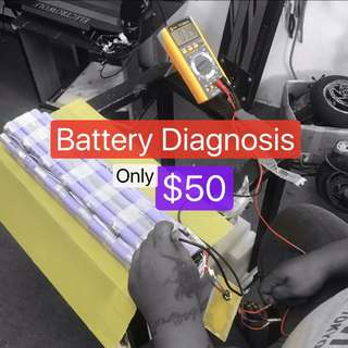 Battery diagnosis for Electric scooter