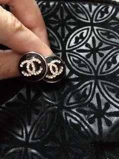 Chanel style diamante rarrings