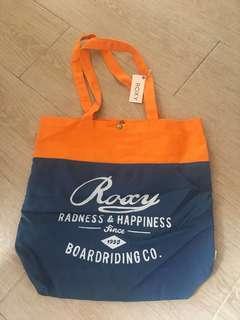 Roxy 全新側咩袋 拼色 橙色藍色側揹袋
